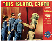 1950s Poster Art Framed Prints - This Island, Earth, From Left Faith Framed Print by Everett