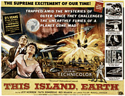 1950s Poster Art Framed Prints - This Island, Earth, From Left Rex Framed Print by Everett