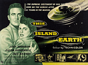 1950s Poster Art Framed Prints - This Island Earth, L-r Rex Reason Framed Print by Everett