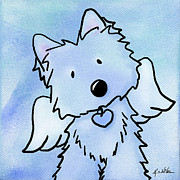 West Highland White Terrier Mixed Media - This Isnt Goodbye by Kim Niles