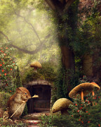 Photomanipulation Digital Art Prints - This magical world Print by Cindy Grundsten