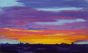 Yellows Pastels Prints - This Mornings Sunrise Print by Diana Tripp