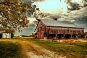 Dilapidated Digital Art Posters - This Old Barn Poster by Bill Tiepelman
