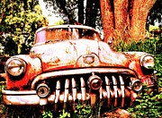 Rusted Cars Photos - This Old Car by Daniel Ness