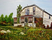 Haunted House Paintings - This old house by Marilyn  McNish