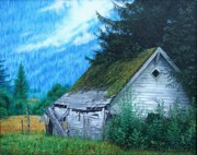 Oil Sculpture Prints - This Old House Print by Mike Ivey