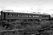 Wine Photos Photos - This Old Train Has Seen Better Days . Black and White . 7D8994 by Wingsdomain Art and Photography