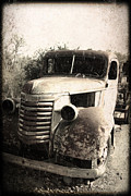 Rusted Cars Posters - This Old Truck Poster by Danuta Bennett