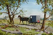 Horse And Buggy Painting Posters - This Side of Paradise Poster by Dale Ziegler