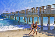 Florida Bridges Prints - This Side of Paradise Print by Debra and Dave Vanderlaan