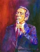 Singer Painting Framed Prints - This Song Is For You - Andy Williams Framed Print by David Lloyd Glover