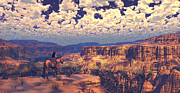 Cowboy Digital Art Prints - This Tattered Land Print by Dieter Carlton