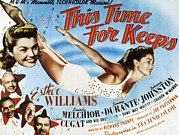 Esther Framed Prints - This Time For Keeps, Esther Williams Framed Print by Everett
