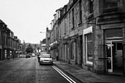 Overcast Day Photo Prints - Thistle Street Rows Of Granite Houses And Shops Aberdeen Scotland Uk Print by Joe Fox