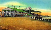 Cleveland Painting Posters - Thistledown Racetrack And Grandstand In Cleveland Oh  Poster by Dwight Goss