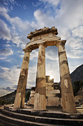 Ruins Photos - Tholos at Delphi by Richard Garvey-Williams