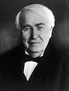 Thomas Alva Edison 1847-1931 Print by Everett