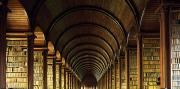 Archives Photo Metal Prints - Thomas Burgh Library, Trinity College Metal Print by The Irish Image Collection