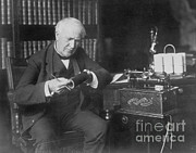 Stock Ticker Prints - Thomas Edison, American Inventor Print by Omikron