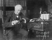 Thomas Edison, American Inventor Print by Omikron