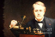 Thomas Alva Edison Framed Prints - Thomas Edison, American Inventor Framed Print by Photo Researchers