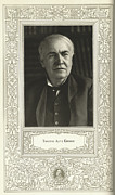 Thomas Alva Edison Framed Prints - Thomas Edison, American Inventor Framed Print by Science, Industry & Business Librarynew York Public Library