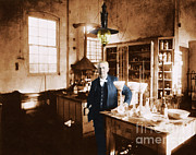 Thomas Alva Edison Framed Prints - Thomas Edison, American Inventor Framed Print by Science Source