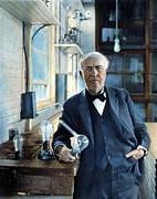 Physics Photos - Thomas Edison by Granger