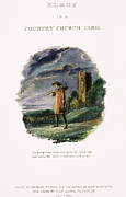 Church Yard Framed Prints - Thomas Gray: Elegy, 1819 Framed Print by Granger