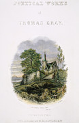 Church Yard Framed Prints - Thomas Gray: Title Page Framed Print by Granger
