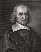 European Artwork Prints - Thomas Hobbes, English Philosopher Print by Middle Temple Library