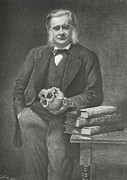 British Portraits Framed Prints - Thomas Huxley, British Biologist Framed Print by Science, Industry & Business Librarynew York Public Library