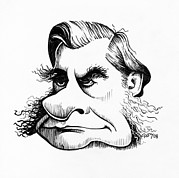 Caricature Prints - Thomas Huxley, Caricature Print by Gary Brown