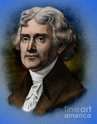 Declaration Of Independence Prints - Thomas Jefferson, 3rd American President Print by Photo Researchers