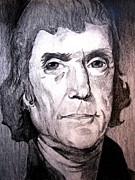 President Jefferson Drawings - Thomas Jefferson by Chris Martinez