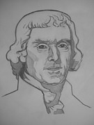 President Jefferson Drawings - Thomas Jefferson by Jeremiah Cook