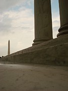 Thomas Jefferson Posters - Thomas Jefferson Memorial and The Washington Monument Poster by John Koubaroulis