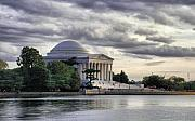 Washington D.c. Digital Art Metal Prints - Thomas Jefferson Memorial Metal Print by Gene Sizemore
