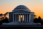 Thomas Jefferson Posters - Thomas Jefferson Memorial Sunset Poster by Paul Frederiksen