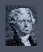 Patriots Framed Prints - Thomas Jefferson Original Framed Print by Rob Hans