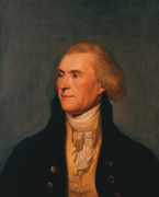 July 4th Painting Framed Prints - Thomas Jefferson Framed Print by War Is Hell Store