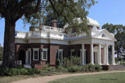 Mansion Digital Art - Thomas Jeffersons Monticello by DigiArt Diaries by Vicky Browning