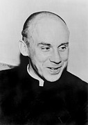 2008 Framed Prints - Thomas Merton 1915-1968, French Framed Print by Everett