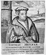 Reformer Framed Prints - THOMAS MÜNTZER (c1489-1525) Framed Print by Granger
