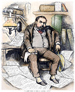 Sweating Metal Prints - Thomas Nast (1840-1902) Metal Print by Granger