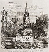 Depressions Posters - Thomas Nast Cartoon Of New York Citys Poster by Everett