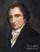 Paine Framed Prints - Thomas Paine, American Founding Father Framed Print by Photo Researchers