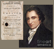 Paine Framed Prints - Thomas Paine And Common Sense Framed Print by Photo Researchers