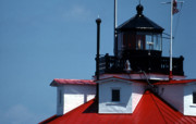 White Lighthouse Prints - Thomas Point Shoal Ligthhouse In Md Print by Skip Willits