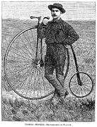 Penny Farthing Photo Acrylic Prints - Thomas Stevens, 1884 Acrylic Print by Granger